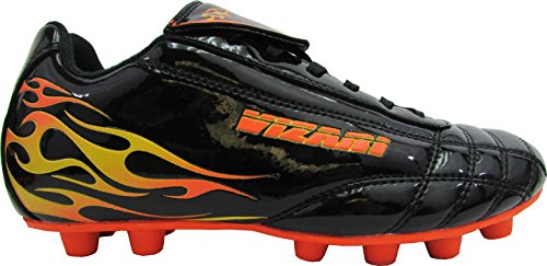 Vizari Blaze FG Soccer Shoe (Toddler/Little Kid), Blue/Orange,8 M US Toddler (4 US Toddler, Black/Orange)