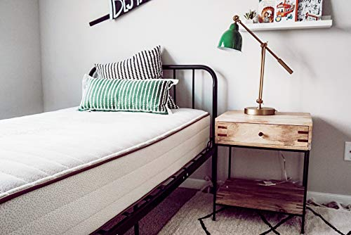 My Green Mattress Pure Echo GOTS Organic Cotton and Natural Wool Mattress (Two-Sided) (Queen) Made in The USA
