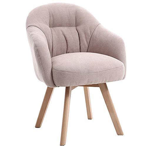 Chaise Chaise de salle à manger en bois massif Fauteuil de salon en tissu Chaise longue paresseux Chaise de sofa simple Chaise ergonomique sédentaire Design ergonomique Convient for Restaurants / bure