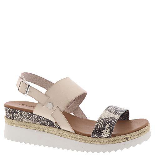 ZiGi Soho Women's Wedge Sandal, Black/Beige, 8