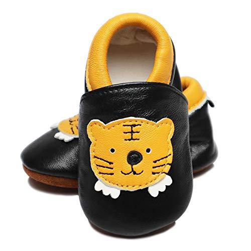 Vesi , Chaussures souple pour bébé (garçon) tigre Größe XL:18-24 Monate