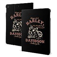 "IPad 7th 10.2"" Harley-Davidson(ハーレーダビッドソン) iPad 10.2/10.5 ケース 薄型 軽量 傷防止 二つ折りスタンド スマートケース Apple iPad オートウェイクアップ/スリープ機能"