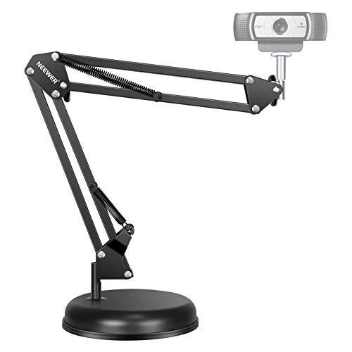 Neewer Ajustable Escritorio Suspensión Soporte de Brazo de Tijera con Base para Webcam C922 C930e C930 C920 C615