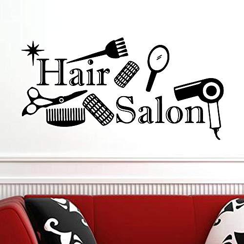 Hetingyue kapperssalon, vinyl, zelfklevend, voor raamdecoratie, zelfklevend, kapsalon
