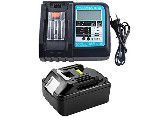 Chargeur DC18RC DC18RA et Batterie pour Makita BL1830 BL1815 LXT 3.0Ah 18V Li-Ion ( LG Cellule ) Neuf