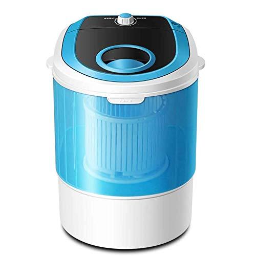 ZR&YW Semi-Automatic Mini Lavatrice, Dormitorio, Piccolo Spazio, Eluizione Integrato Semi-Automatica 2.5KG capacità, Single Barrel, Adatto A Camera,Blu