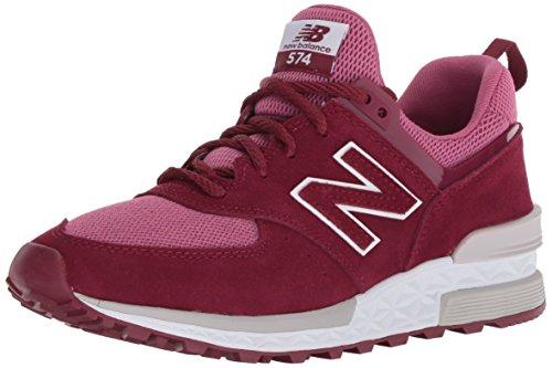 New Balance Damen WS574-SNF-B Sneaker, Rot (Bordeaux Bordeaux), 36 EU