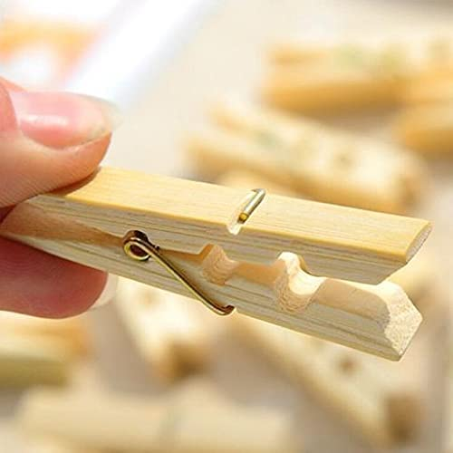 Limited price Jacksonville Mall 500 Pcs Wood Clothespins Wooden Laundry Clothes Sprin Large Pins