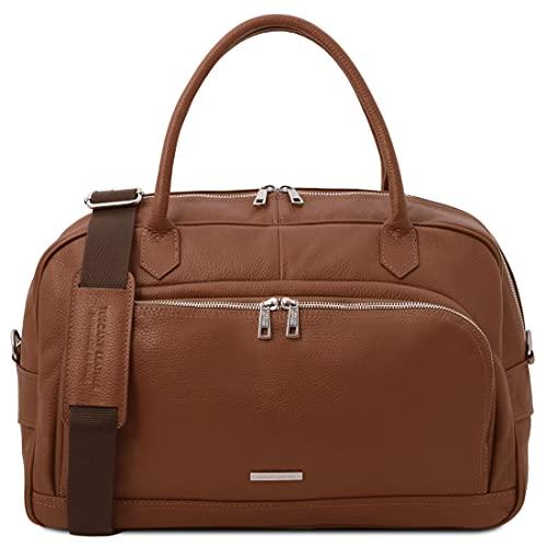 Tuscany Leather TL Voyager - Maleta de Viaje en Piel Suave - TL142148 (Cognac)