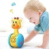 Baby-Rassel Spielzeug, Musik-Spielzeug-Karikatur Giraffe Tumbler Spielzeug for Baby Kleinkinder,...