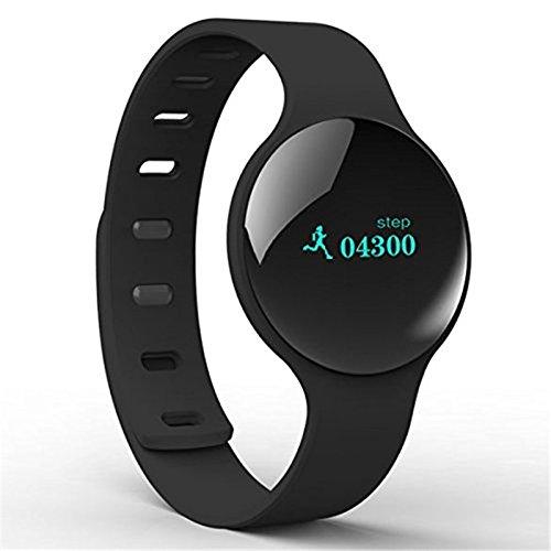 Tailcas H8 Silicio Smart Bluetooth Wireless Health Fitness Wristband Polso Bracciale Contapassi Activity Tracker Sport Sleep Alarm Wristband Strap per iOS 7.0, Android 4.3 and Above Smartphones (Nero) (Black)