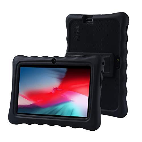 LAMZIEN Cover Custodia Protettiva Case in Pelle Silicone Regolazione Multi-Angolo Adatto per Dargon Touch LAMZIEN Haehe Pritom Q88 ecc.Tablet 7 Pollici (Nero)