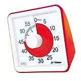 タイマー, Living Hall timer スクールタイマー 60分 勉強 時間管理 (8cm クォーツ構造)