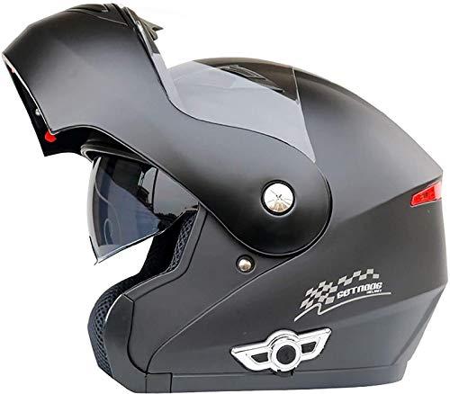 TKTTBD Bluetooth Integrado Casco De Moto Modular con Doble Visera Cascos De Motocicleta ECE Homologado A Prueba De Viento para Adultos Hombres Mujeres J,XXL