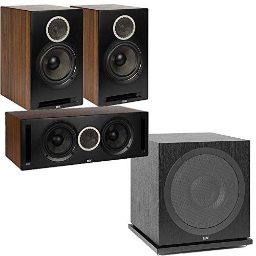 Review ELAC Debut Reference DBR62 Bookshelf Speakers 3.1 Channel Home Theater System Bundle with DCR...