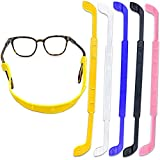 10PCS Anti Slip Kids Glasses Strap with Double Hole Design, Sports Glasses Strap for Kids with Silicone,5 Colors