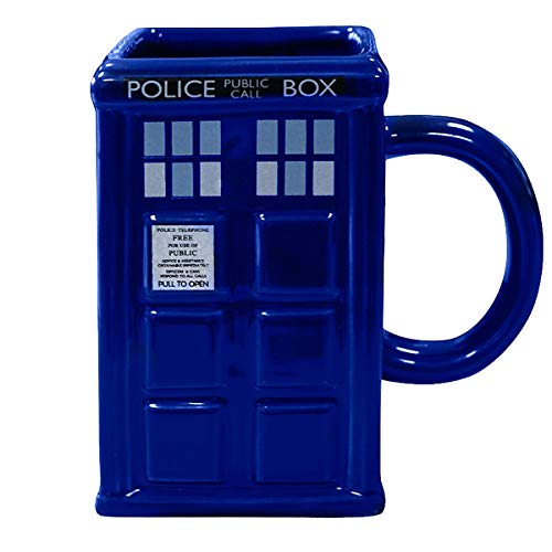 Doctor Who 3D Tasse Tardis - blau, Bedruckt, aus 100% Keramik.