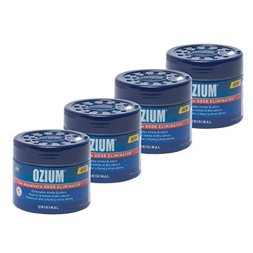 Ozium Smoke & Odors Eliminator Gel. Home, Office and Car Air Freshener 4.5oz (127g), Original Scent (Pack of 4)