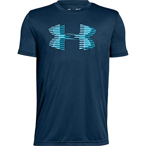 アンダーアーマー ジュニアスポーツウェア Tシャツ 18F UA TECH BIG LOGO SOLID TEE 1331687 489 ボーイズ TCT DCT VNB