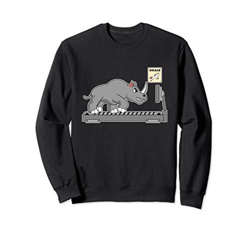 Lustige Einhorn Sport Laufband Parodie - Einhorn Fitness Sweatshirt