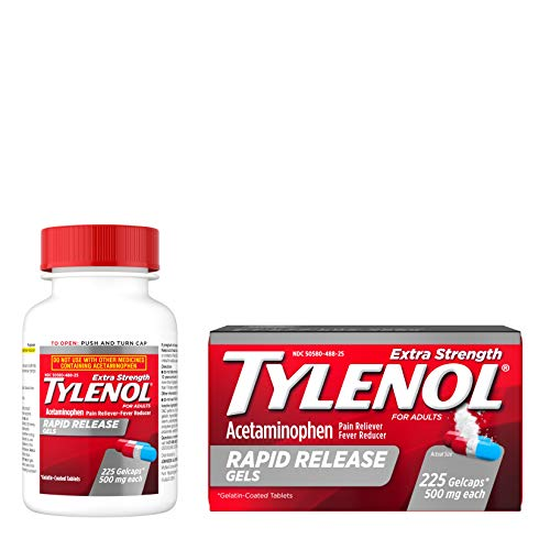 Tylenol Extra Strength Rapid Release Gels with Acetaminophen, Pain Reliever & Fever Reducer, 225 ct, 225 Count