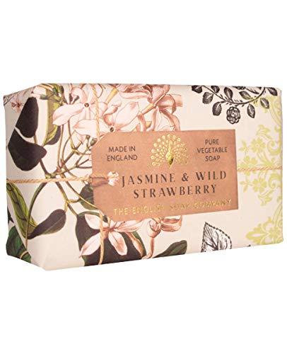 The English Soap Company, Jasmine & Wild Strawberry Soap Bar, Anniversary Collection 200g.