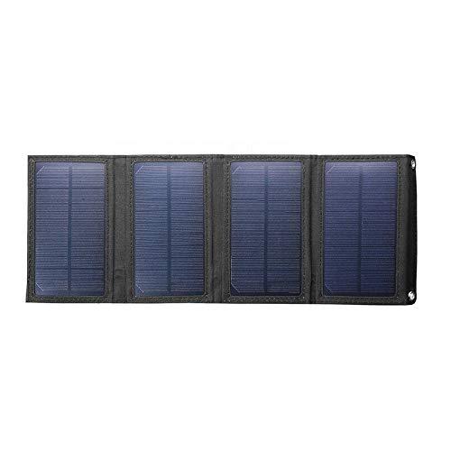 Fltaheroo Paquete de batería plegable del cargador del panel solar de 20W...