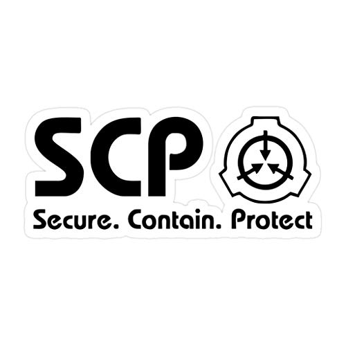 3 PCs Stickers SCP Foundation Logo Merchandise Inch Die-Cut Wall Decals for Laptop Window Car Bumper Helmet Water Bottle