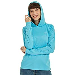 Willit Women's UPF 50+ Sun Protection Hoodie SPF Shirt...