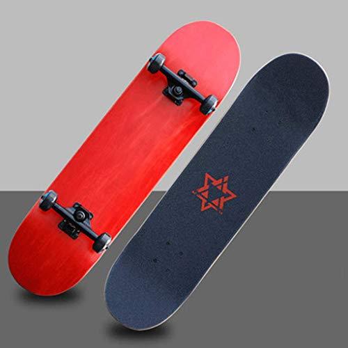 YXD Shortboard Skateboard Teen Erwachsener Kind Jungen und Mauml;dchen Anfauml;nger Montage Board Professionelle Straszlig;e Bilaterales Tilt Skateboard