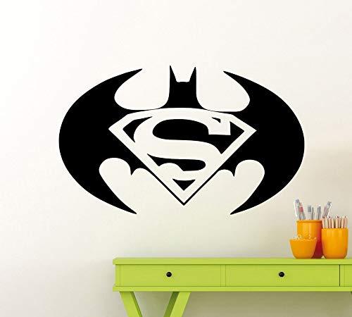 Tianpengyuanshuai Vinyl vleermuis logo muur sticker held verwijderbare huis slaapkamer decoratie muursticker