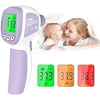 Termómetro de Fiebre, Termómetro Infrarrojo Digital Profesional sin Contacto, con Alarma de Fiebre, Lecturas Precisas Instantáneas, para Bebés, Niños, Adultos
