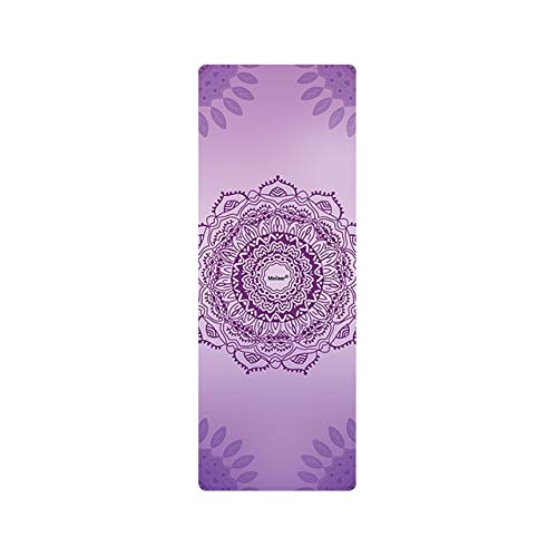 N / A 2019 Ultraleichte Faltbare Yogamatten Bedrucktes Mandala 1 mm Wildleder Naturkautschuk Anti-Rutsch-Pilates-Decken Mehrfachverwendung 183x68x0,1CM