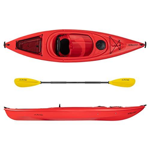 ATLANTIS Kayak-Canoa SOKUDO Rossa cm 305 - schienalino - pagaia