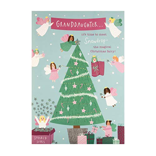 Kerstaktiviteitskaart voor kleindochter van keurmerk - Pop-out en maak Fairy Tree Topper Design