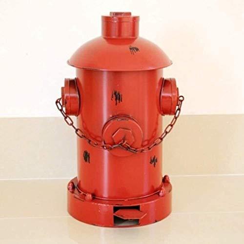 HJKL Verdikte vuilnisbak Vintage Fire Hydrant standbeeld Pedaal Bin, Amerikaanse IJzeren Vuilnisbak Met Binnenemmer Huishoudelijke Afvalbak Eenvoudige moderne high-end vuilnisbak