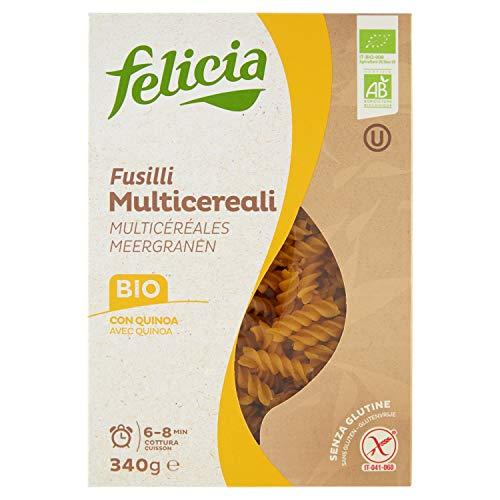 4穀ブレンド(トウモロコシ、米粉、そば粉、キノア)のグルテンフリーパスタ (フジッリ) Gluten Free Multi grain pasta fusilli