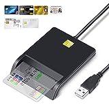 Lector de Tarjeta Inteligente, DOD Military USB-C Lector de Tarjeta de Memoria CAC de Acceso común Compatible con Windows XP/Vista /7/8/10/Mac OS