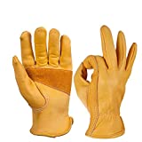 Buy and buy at Brandon Full Leather Top Layer Cowhide Locomotive Gloves Motorcycle Gloves Warm Retro Riding Men HarleyYellowXl