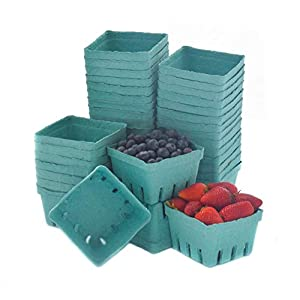 JA Kitchens Green Molded Pulp Fiber Berry/Produce Vented 1 Pint Basket (40 Pieces) |