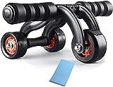 HYZXK Abs Roller Wheel Ejercicio Fitness Power Empuje hacia Arriba Abdominal Wheel Roller (Color: A)