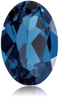 Synthetic Oval Cut Swiss Made Rough Blue Sapphire from 5x3MM-18x13MM