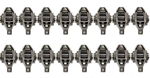 Michigan Motorsports LS1 Rocker Arms with Trunion Kit Installed - FITS LS2 LS6 LQ4 LQ9 LY5 LY6 LM7 4.8 5.3 5.7 6.0 Bolts Not Included
