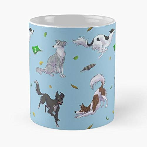 Silken Windhound Dog Dogs Sighthound Taza de café con Leche 11 oz