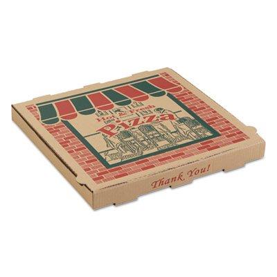 ARV 9144314 14 x 14 x 1.75 in. Corrugated Pizza Boxes - Kraft