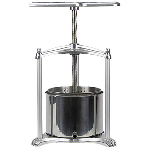 EJWOX 0.8 Gallon Aluminum Soft Fruit Wine Press, Cheese Press Cherries Press Berries Press Herbal Press Tincture Press