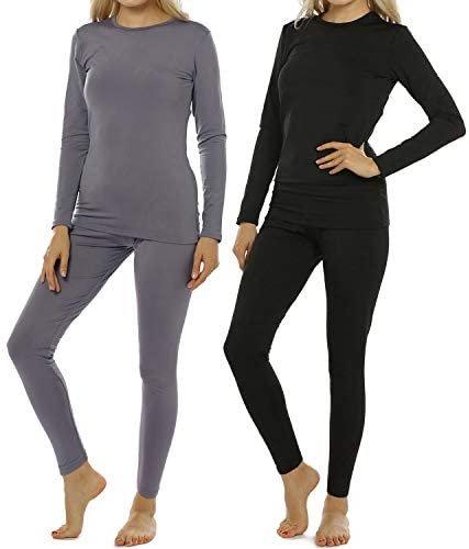 ViCherub 2 Sets Women s Thermal Underwear Set Long Johns with Fleece Lined Ultra Soft Top Bottom product image