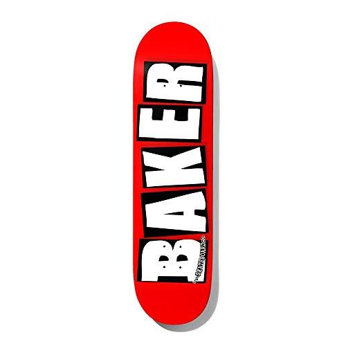 Baker Skateboards Skateboard-Brett/Deck, 19,78 x 80,44 cm, Rot/Weiß