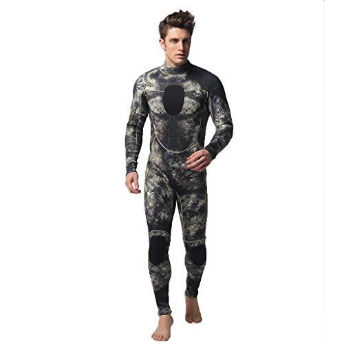 LOPILY Herren Mode Neoprenanzug Surfbekleidung 3MM Ganzkörperanzug Schwimmanzug Tauchanzug Schwimmen Surfen Tauchen Sport Badeanzug Wetsuit Schnelltrocknend(Camouflage,L)