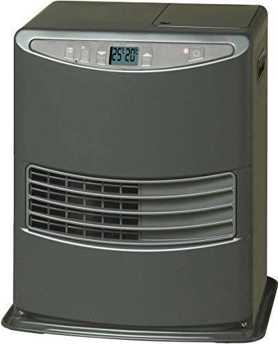 Kerosun LC 3000 Estufa de Combustible Electrónica Portátil 3000W Gris 19m2-48m2 Sin Instalación Termostato Regulación Diaria, Clase de eficiencia
